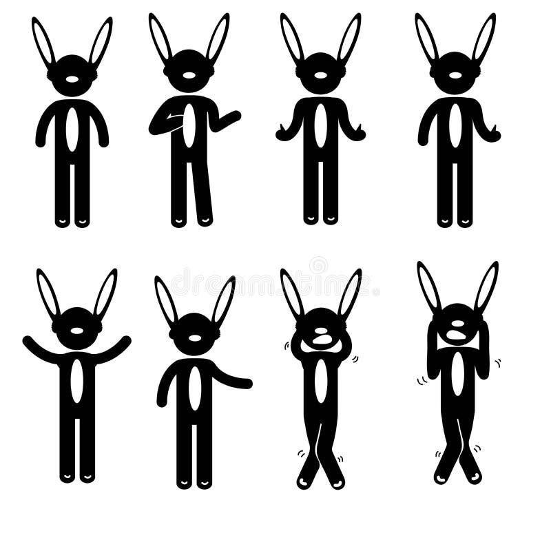 Costume de base d'habillement de signe d'icône de personnes de posture d'homme images libres de droits