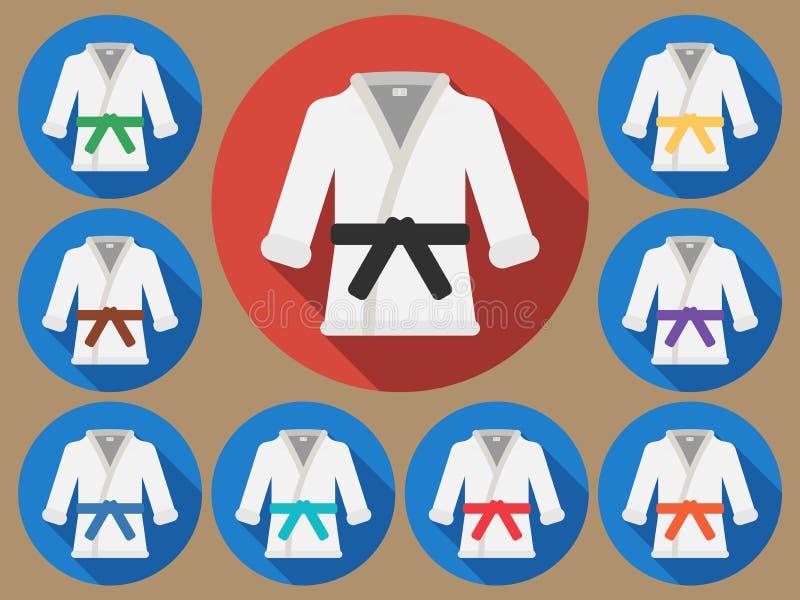 Costume de karaté plat illustration de vecteur