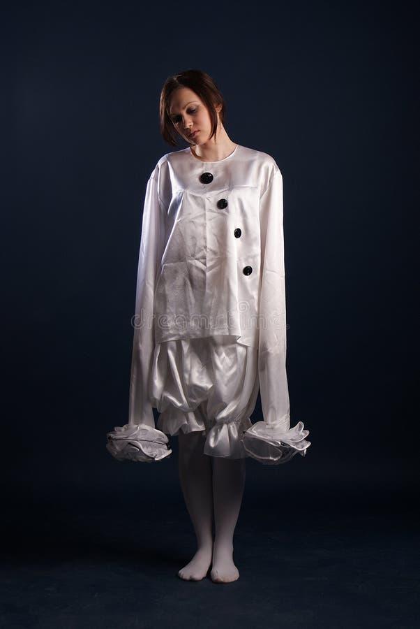 Costume de pierrot D'isolement images libres de droits