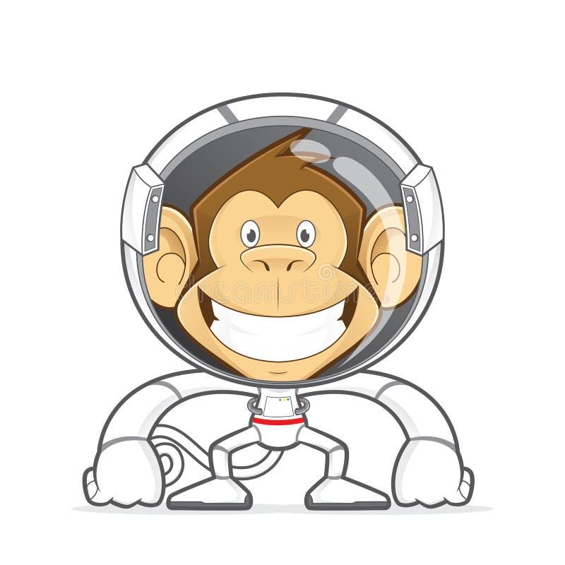 Costume de port d'astronaute de singe illustration libre de droits