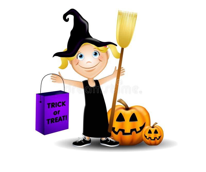 Costume de Veille de la toussaint de sorcière illustration libre de droits