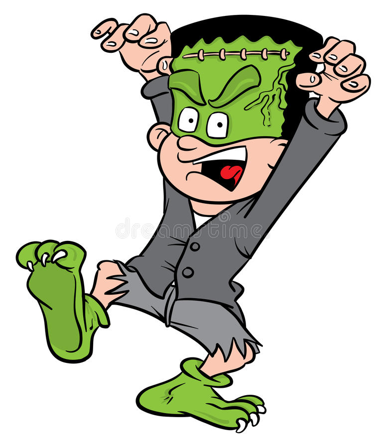 Costume de Veille de la toussaint Frankenstein illustration de vecteur