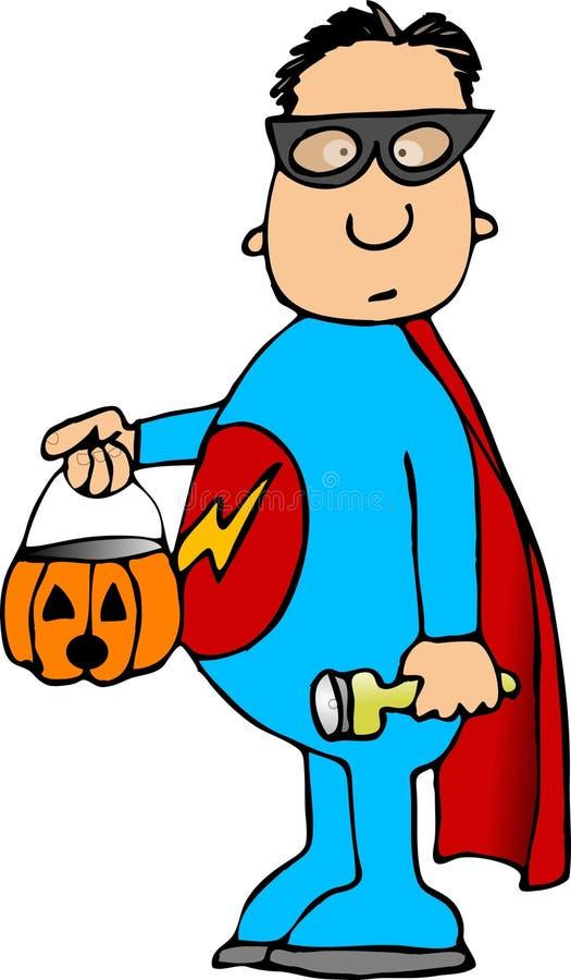 Costume del supereroe royalty illustrazione gratis