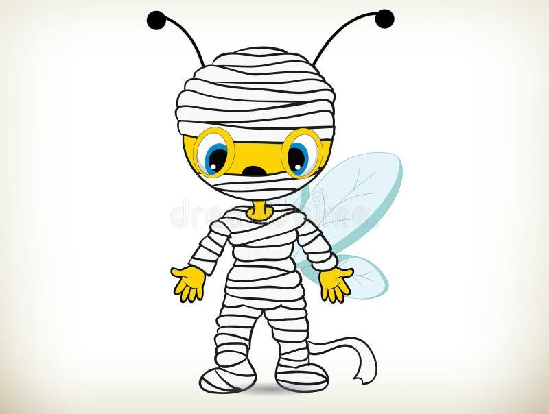 Costume di ape-Halloween della mummia royalty illustrazione gratis