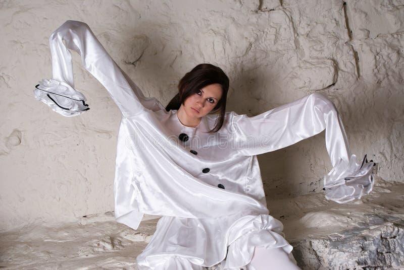 Costume di pierrot fotografia stock libera da diritti