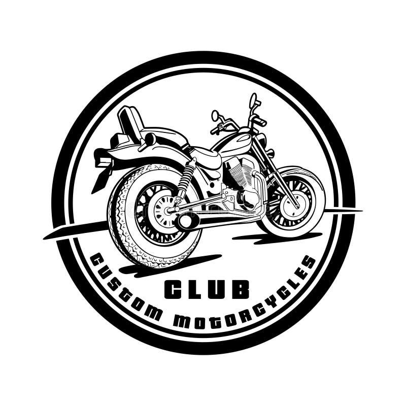 Costume do clube da motocicleta motorbike ilustração do vetor