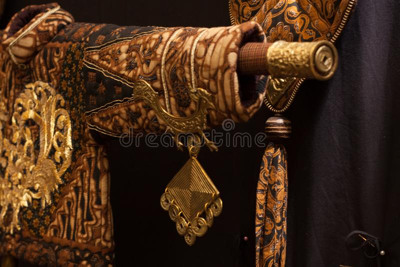 Costume esagerato East Asia, villaggio, decorazione rustica, vestiti tradizionali immagine stock libera da diritti