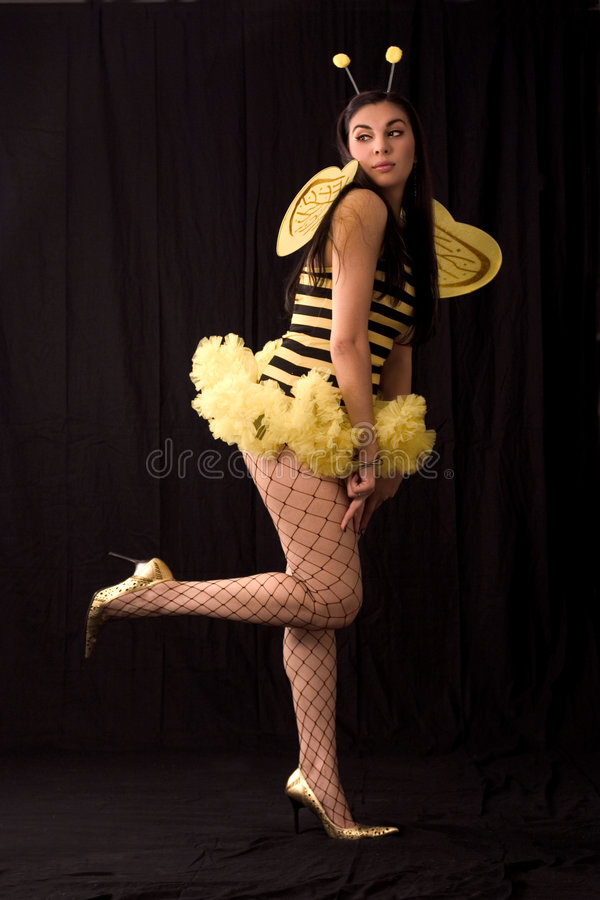 costume halloween пчелы стоковое фото