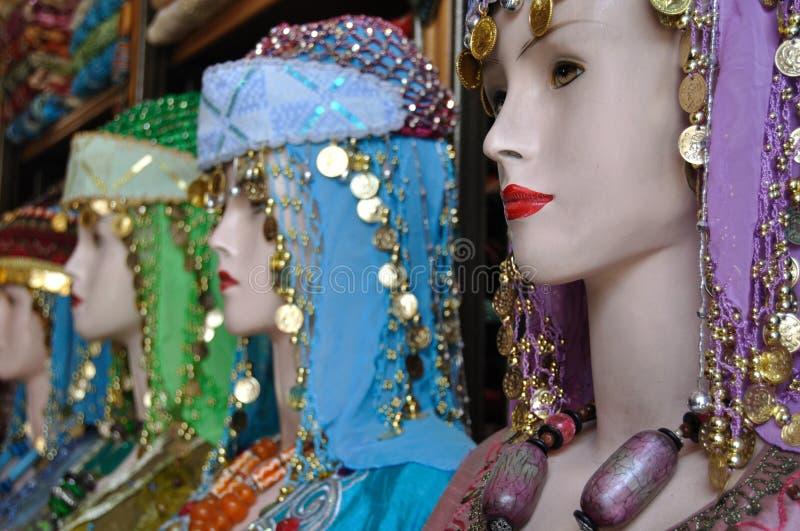 Costume jordanien traditionnel images stock