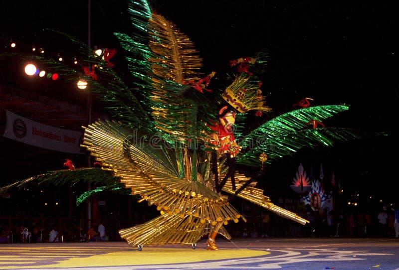 Costume le défilé, carnaval, Port-d'Espagne, île de Caraïbe Trinidad images libres de droits
