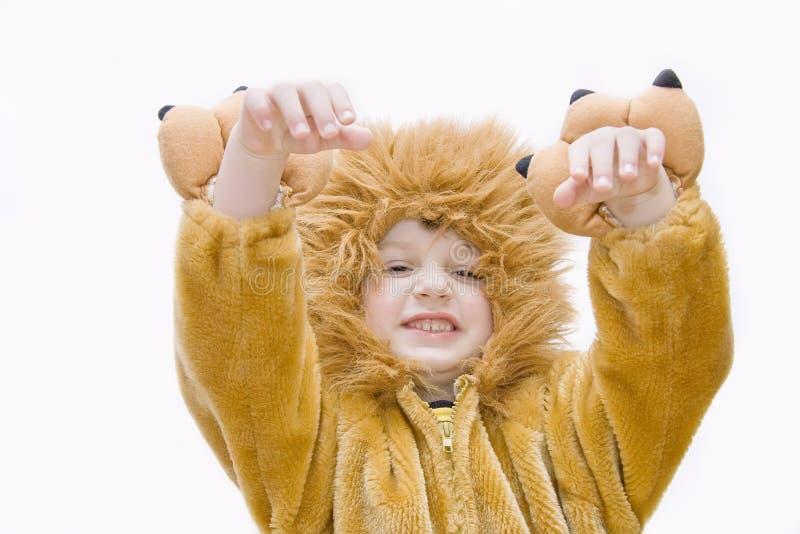 Costume-lion de carnaval. image stock