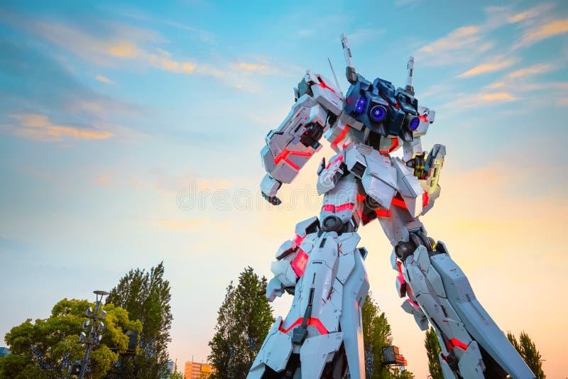 Costume mobile normal RX-0 Unicorn Gundam au plongeur City Tokyo Plaza à Tokyo, Japon photos libres de droits