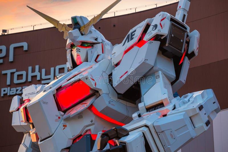 Costume mobile normal RX-0 Unicorn Gundam au plongeur City Tokyo Plaza à Tokyo, Japon photos stock