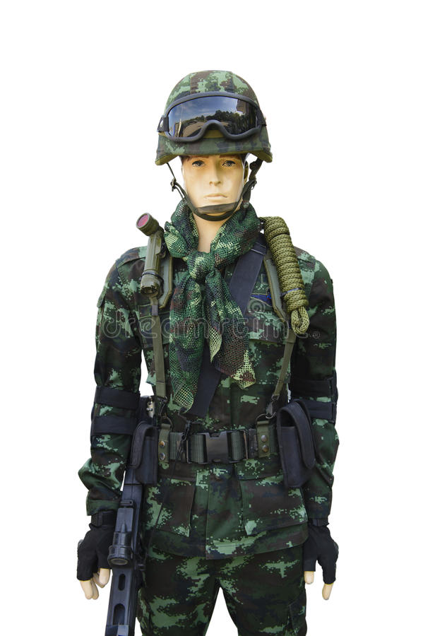 Costume moderne de soldat photo stock