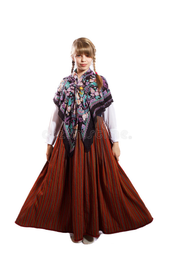 Costume national letton photographie stock