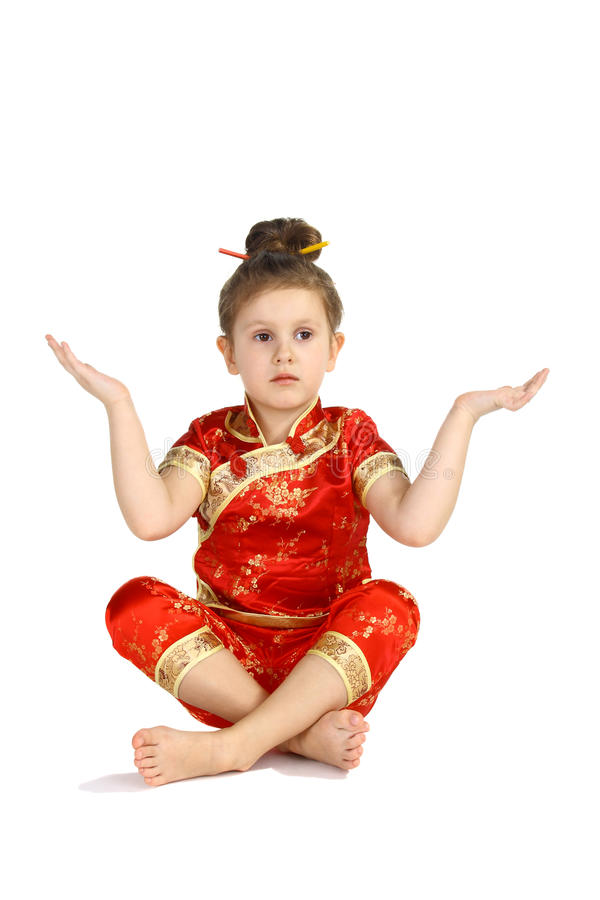 Costume nazionale cinese fotografia stock libera da diritti
