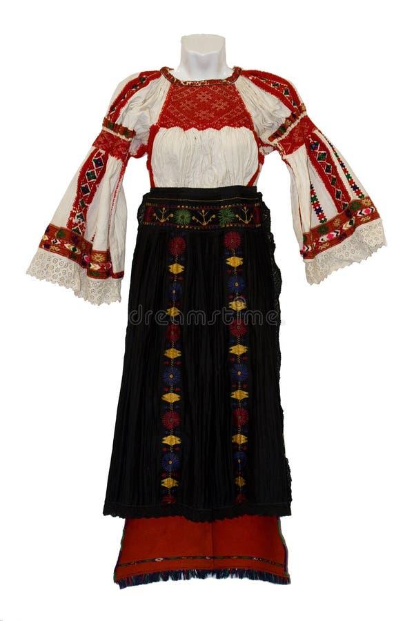 Costume nazionale moldavo per le donne fotografia stock libera da diritti