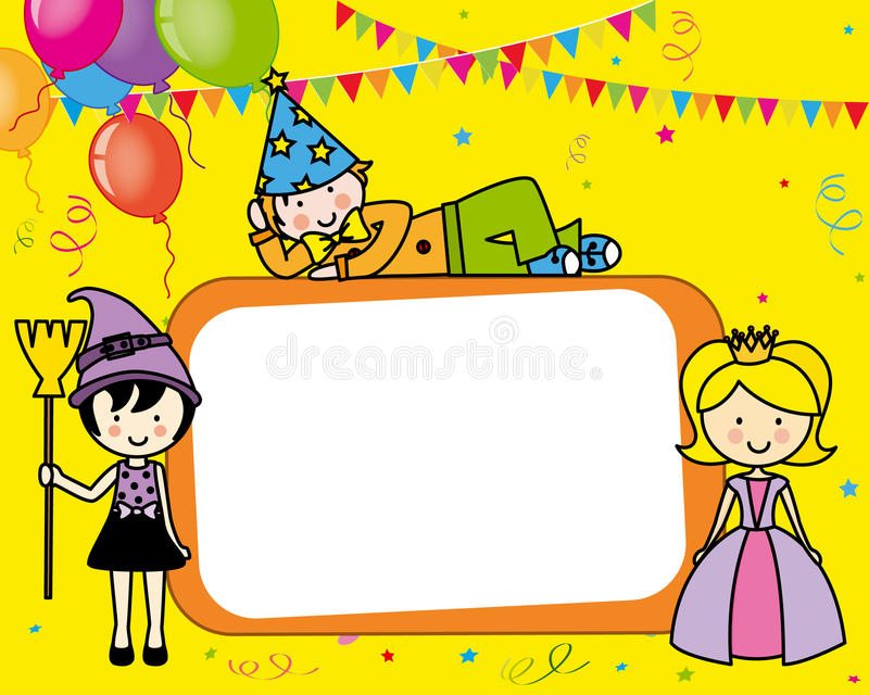 Costume party card vector illustration