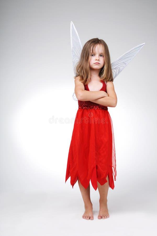 Costume rouge de Veille de la toussaint. photos libres de droits
