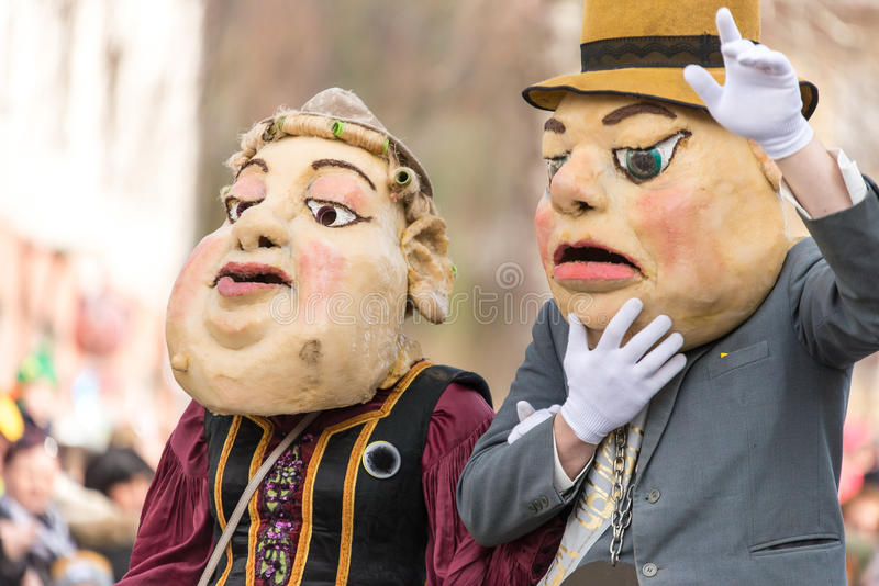 Download Costume Traditionnel De Carnaval Annuel De Cerknica En Slovénie Photo stock - Image du magique, foule: 87708728
