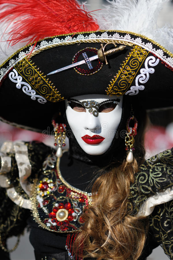 Costume Vénitien De Carnaval Photo stock