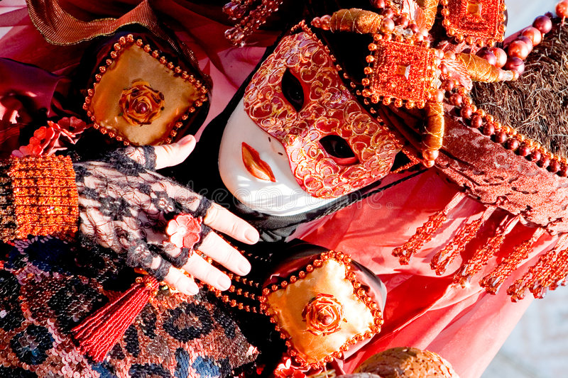 Costume at the Venice Carnival stock photos
