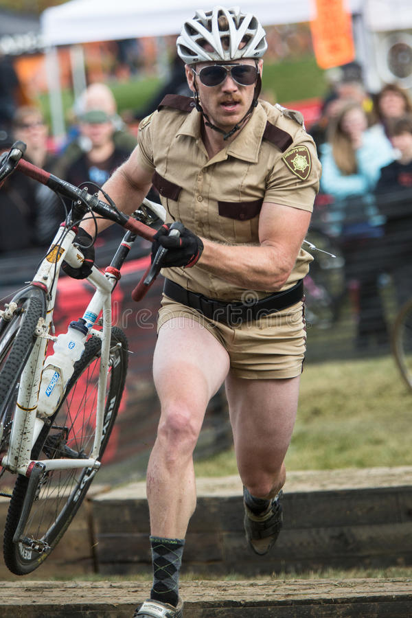 Download Costumed Bicycle Racer editorial photography. Image of cross - 27406632