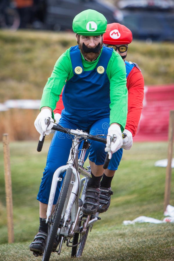 Download Costumed Bicycle Racers - Mario And Luigi Editorial Image - Image: 27406745