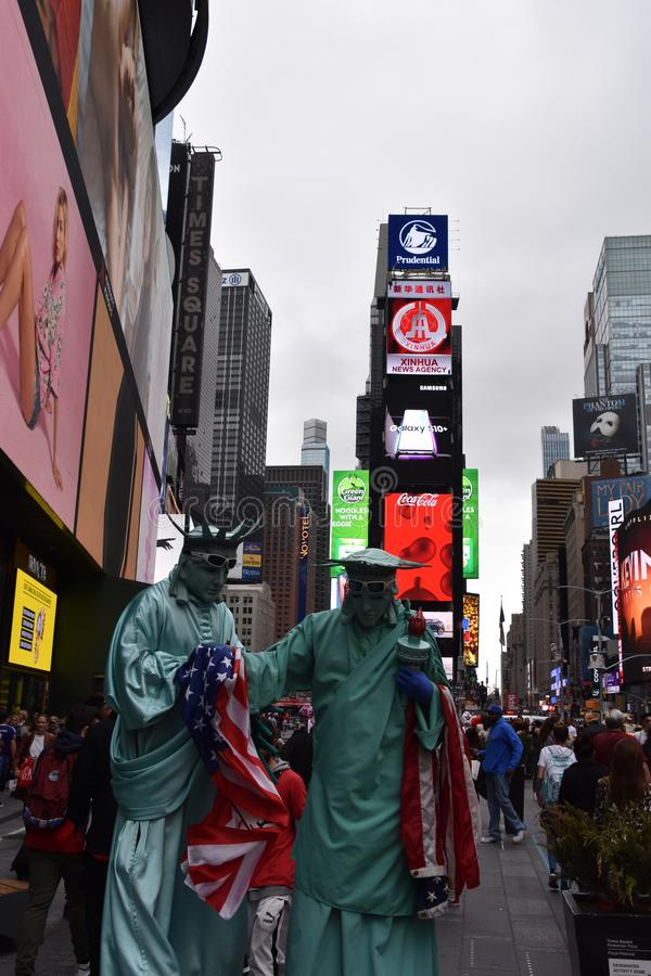Costumed characters at Times Square, in Manhattan, New York City stock photo