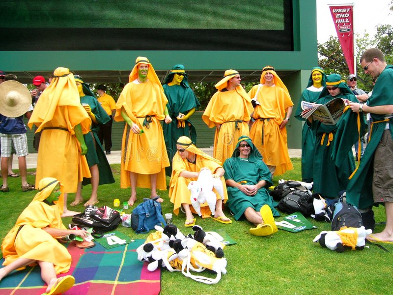 Download Costumed Cricket Crowd editorial photography. Image of aussie - 7329582