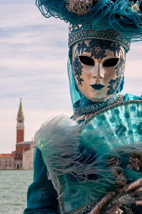 Costumed kobiety Wenecja karnawał obraz royalty free