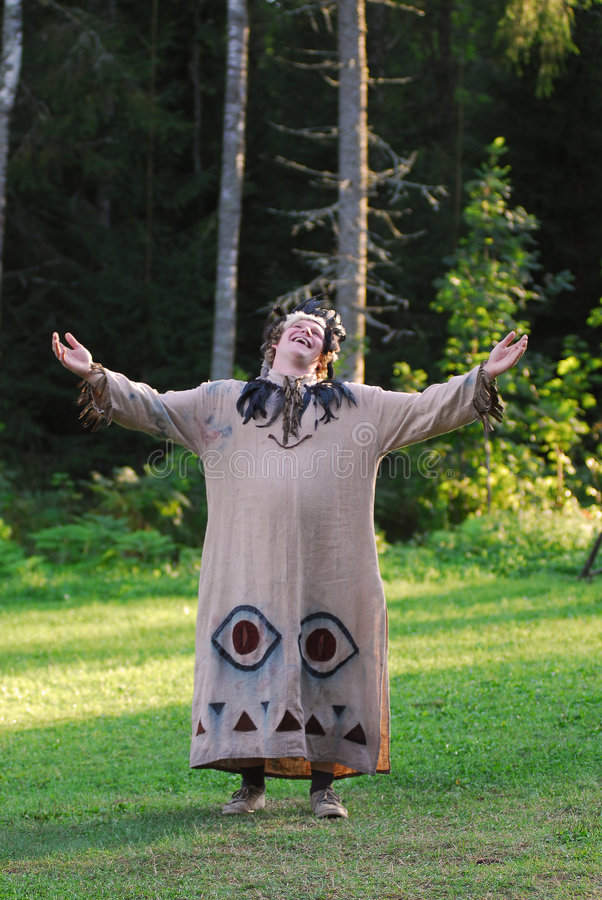 Free Costumed Man In The Woods Royalty Free Stock Photo - 3386095