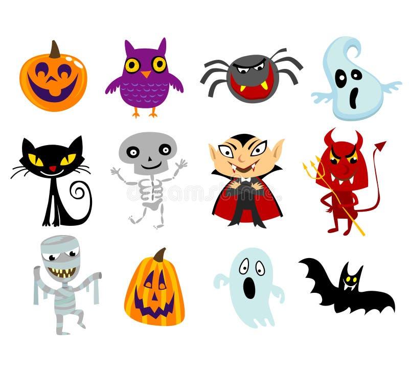 Costumes de Halloween illustration de vecteur