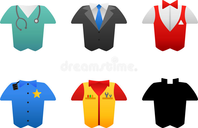 Costumes de métier illustration stock