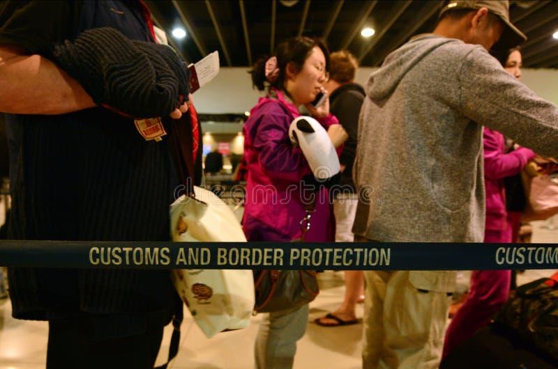 Costumes e serviço de proteção australianos da beira imagem de stock