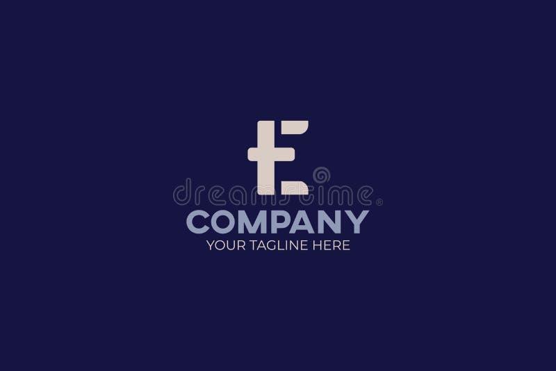 """Costumes forts et audacieux de logo de la lettre """"E """"chaque société, affaires, et service qui a un caractère fort illustration stock"""
