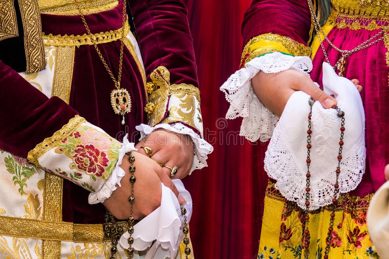 Costumes traditionnels sardes photos libres de droits
