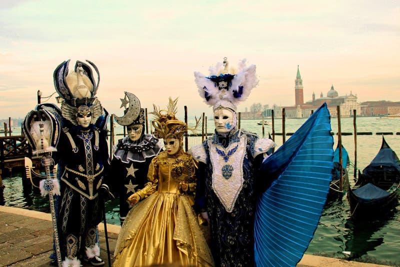 Costumi e maschere carrnival di Venezia fotografia stock libera da diritti