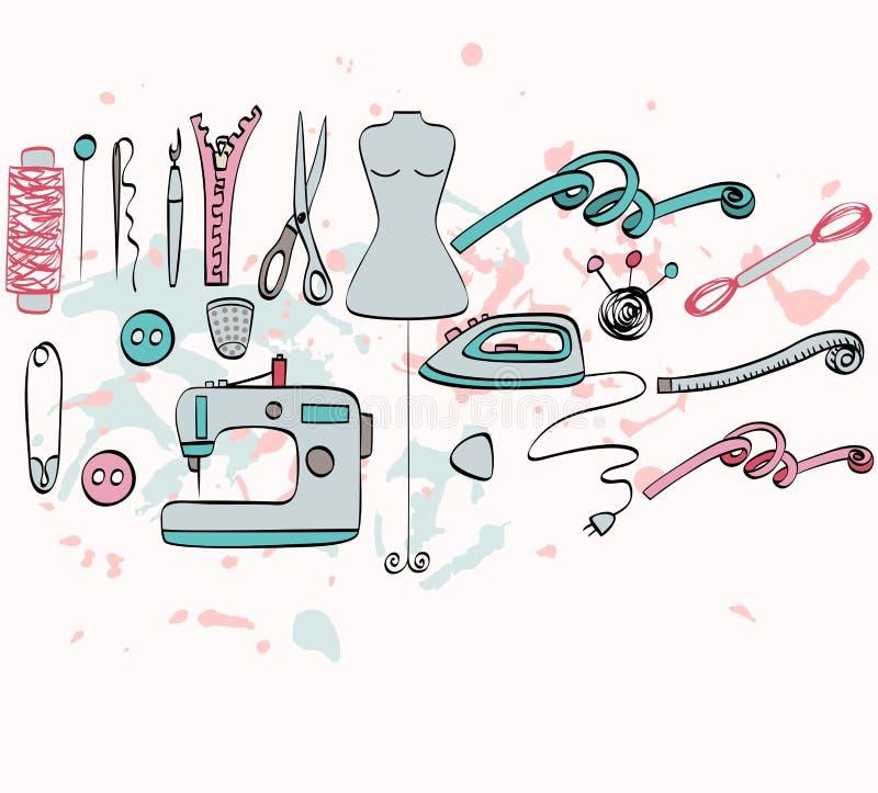 costura stock de ilustración