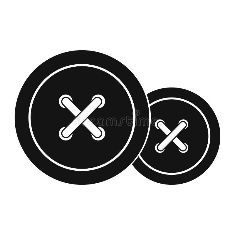 A costura abotoa o ícone ilustração do vetor