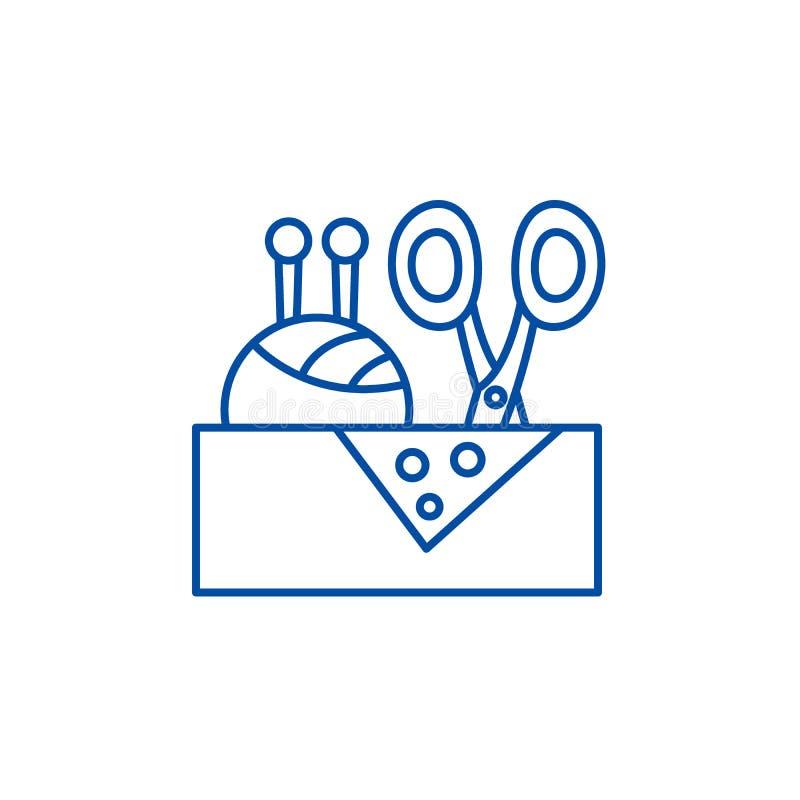 Costurando o conceito do ícone da área de negócio Costurando o símbolo liso do vetor do negócio, sinal, ilustração do esboço ilustração royalty free