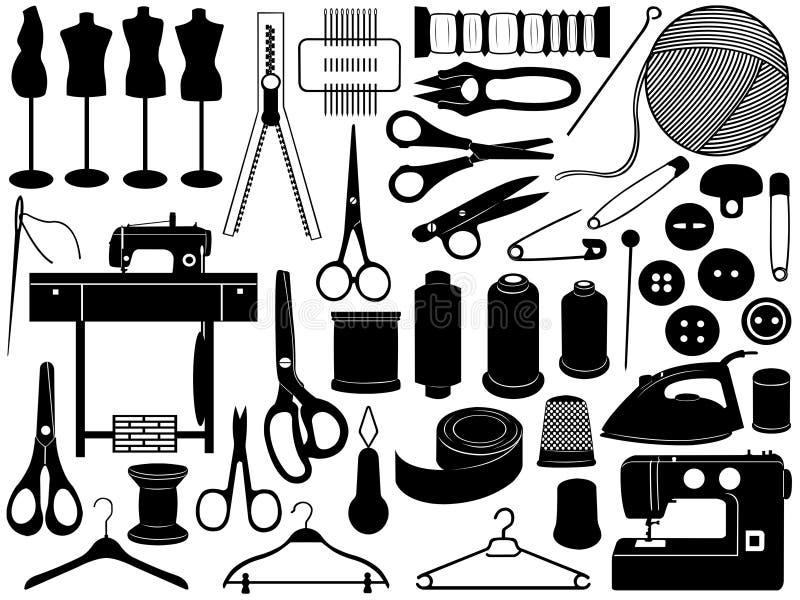 Costurando o equipamento ilustração stock