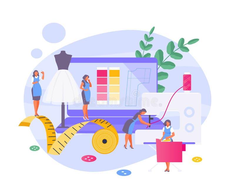 Costurando o vetor da oficina ilustração stock