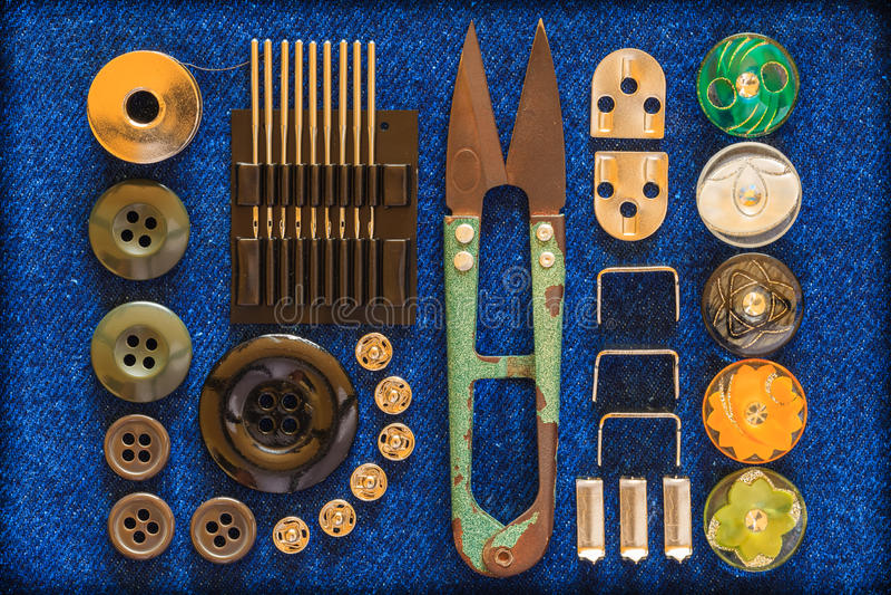 Costureira do equipamento. imagem de stock royalty free