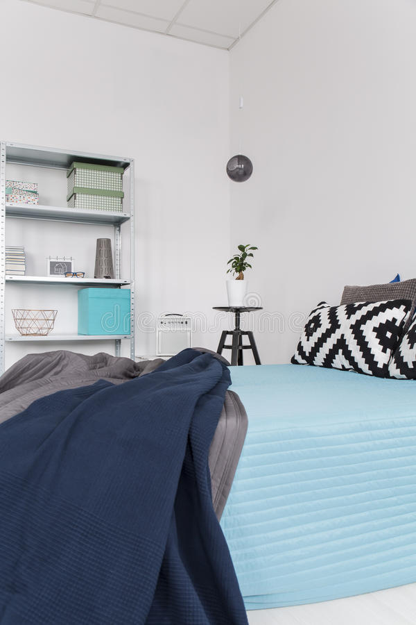 cosy bedroom in relaxing colours stock image image of apartment