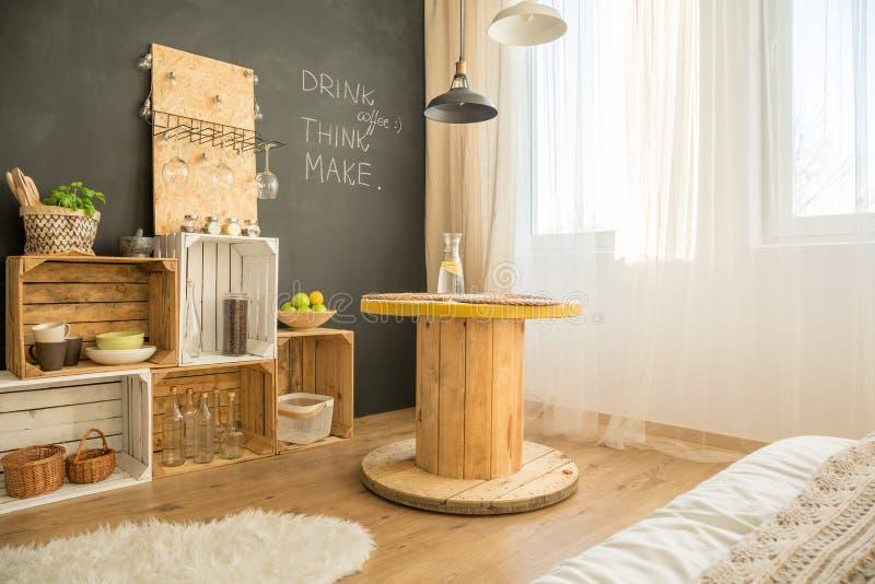 Cosy eco interior design stock images