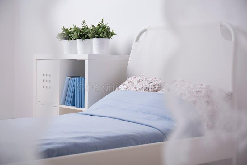 Cosy sleeping area for teenager. Photo of cosy light sleeping area for teenager royalty free stock image