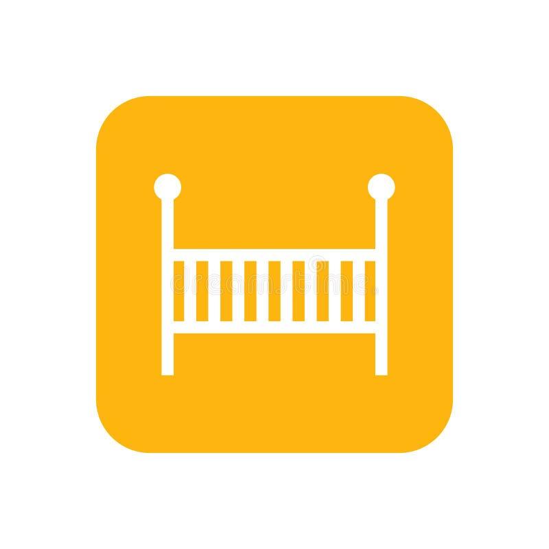 cot Icône plate de couleur Articles de bébé pour des nouveaux-nés Illustration illustration de vecteur