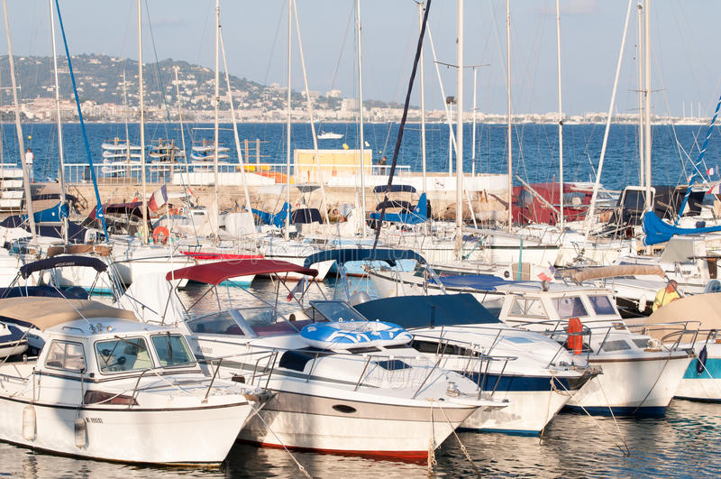 Cote d'Azur Jachthafen stockbilder