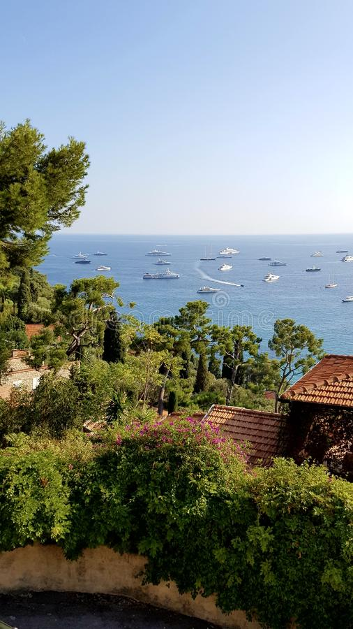 Cote d'azur view royalty free stock image